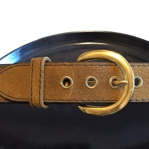 100% Leather Canterbury Suede Belt